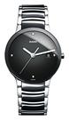 RADO Centrix黑陶石英錶晶萃系列-R30934712-原廠公司貨/38mm/黑陶