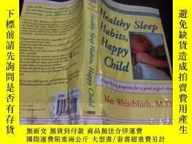 二手書博民逛書店原版英法德意等原版外文罕見Healthy Sleep Habit