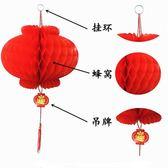 小紅燈籠掛飾結婚慶典新年喜慶燈籠紅燈籠開業裝飾場景布置紙燈籠