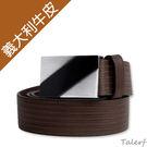 TALERF單層3D雕刻皮帶(深灰色/共3色)-男 /真皮 牛皮/台灣製造