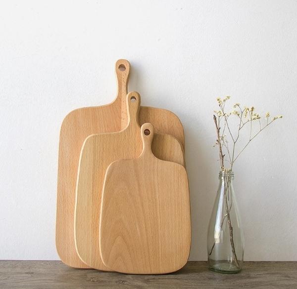 木製砧板 日式隔熱墊 下午茶麵包盤 單柄輕食盤 拍照神器【H80851】
