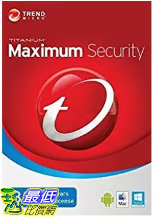 [7美國直購] 2018 amazon 亞馬遜暢銷軟體 Trend Micro Maximum Security 2018 version12