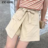 中大尺碼  不規則雙口袋褲裙~共兩色 - 適XL~5L《 68242 》CC-GIRL