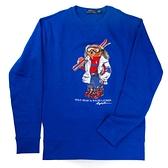 Polo Ralph Lauren POLO熊藍色長袖鋪棉T恤-R710778647001