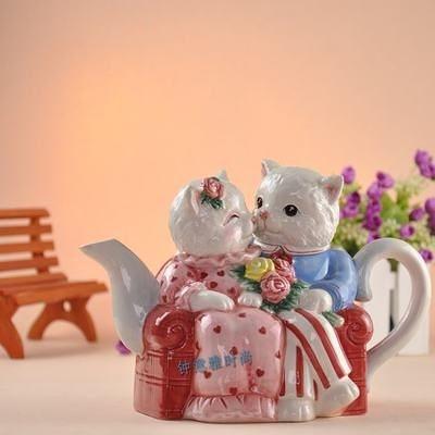 溫馨家族系列貓咪 陶瓷茶壺