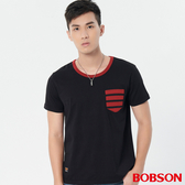 【BOBSON】男款條紋貼帶上衣 (28022-88   )
