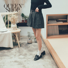 Queen Shop【04130081】混色後鬆緊腰設計毛料短褲 S/M*現+預*