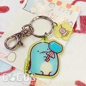 正版 SAN-X 角落小夥伴 角落生物 果凍鑰匙圈 鑰匙造型吊飾 鑰匙圈 掛飾 吊飾 恐龍款 COCOS LL046