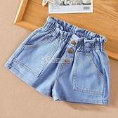 女童牛仔短褲2021兒童韓版高腰寬鬆熱褲新款夏季薄款大童女孩褲子 快速出貨