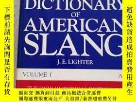 二手書博民逛書店Random罕見House Historical Dictionary of American Slang Vol