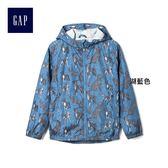 Gap男童 趣味動物圖案長袖連帽夾克 266388-湖藍色