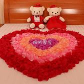 仿真玫瑰花瓣 無紡布仿真玫瑰花瓣結婚慶用品婚禮婚房布置戶外場景道具婚床撒花 珍妮寶貝
