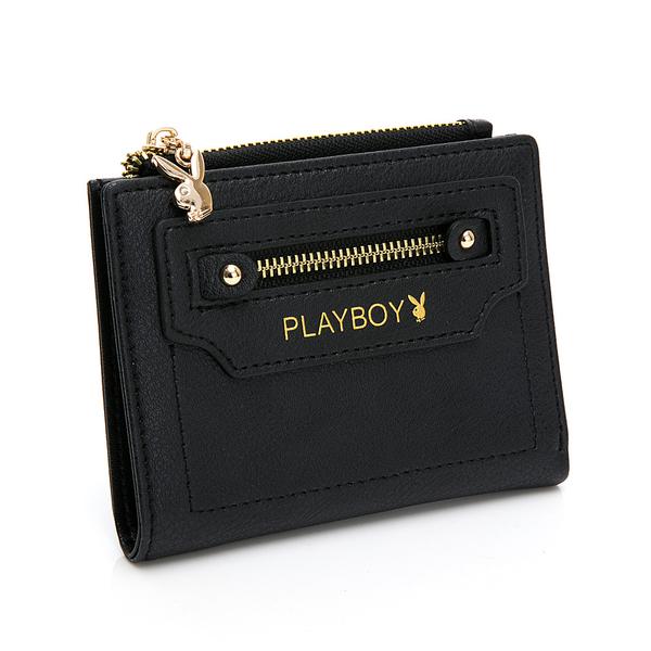 PLAYBOY- 短夾 Original系列 -黑色