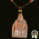 天上聖母媽祖{印度瑪瑙}項鍊 C【十方佛教文物】
