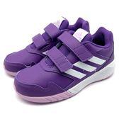 《7+1童鞋》中大童 ADIDAS ALTARUN CF K 魔鬼氈 輕量  透氣慢跑鞋 7331  紫色