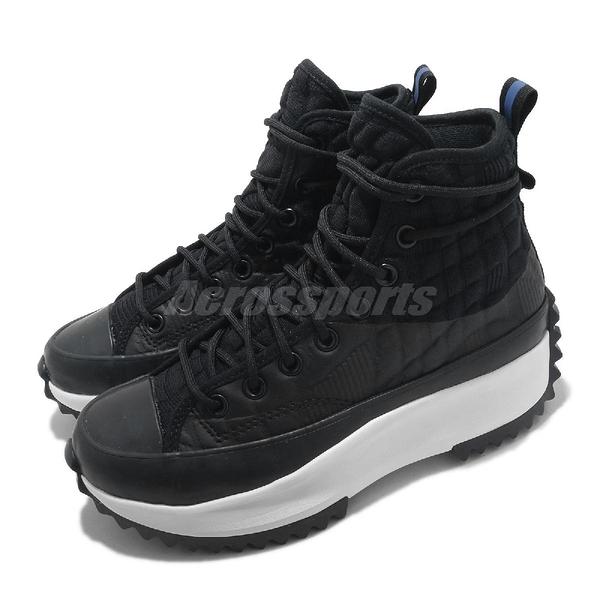 Converse 休閒鞋 Run Star Hike Hi 黑 白 女鞋 鋸齒鞋 厚底 【ACS】 170246C