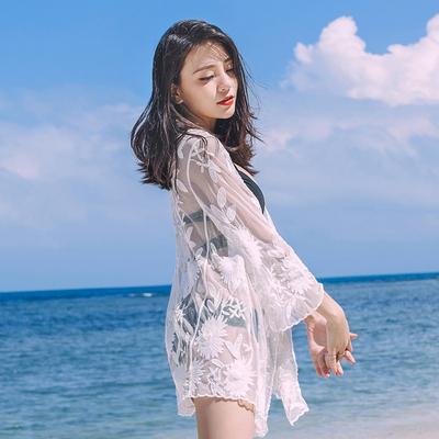 蕾絲繡花開衫泳衣女款外搭比基尼罩衫防曬外套巴厘島海邊度假TBF-10B快時尚