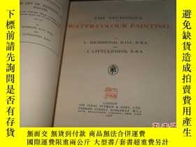 二手書博民逛書店THE罕見TECHNIQUE OF WATER-COLOUR P