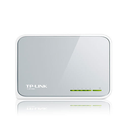 TP-LINK TL-SF1005D 5埠 10/100Mbps 桌上型 快速 乙太網路 交換器