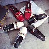 半拖鞋 新款半拖鞋女韓版平底百搭休閒懶人女鞋大碼包頭女拖鞋41-43 瑪麗蘇精品