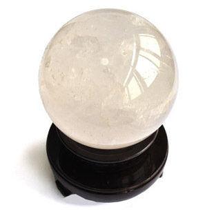 白水晶球風水擺件