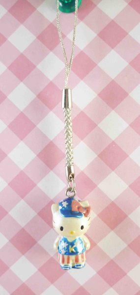 【震撼精品百貨】Hello Kitty 凱蒂貓~限定版手機吊飾-根付(美國藍白星)