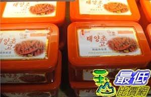 [COSCO代購] 需低溫配送無法超取 韓味不二 辣椒醬 一公斤裝 KOREAN SPICY SAUCE 1KG_C60414