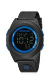 Reebok BlockParty系列潮流電音時尚電子腕錶-黑x藍