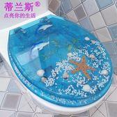 樹脂馬桶蓋 坐便器蓋廁所板加厚UVO型通用老式彩色馬桶圈  igo茱莉亞嚴選
