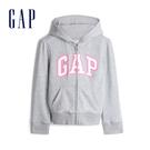 Gap女童 Logo柔軟系列連帽外套 567747-石楠灰