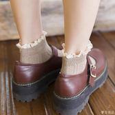 薄款女短襪日繫蕾絲花邊襪純棉秋季低筒船襪