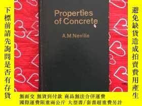 二手書博民逛書店Properties罕見of concrete【混凝土性質】精裝