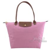 茱麗葉精品【全新現貨】Longchamp Le Pliage 折疊長揹帶肩提包.粉紅 #1899