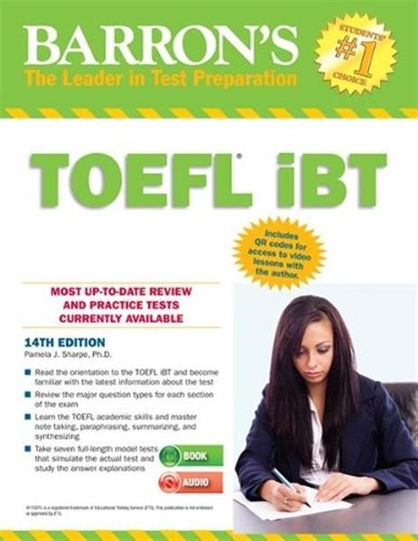 (二手書)Barron's TOEFL IBT Internet-Based Test 14th Edition with Audio C..