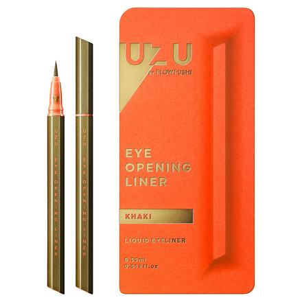 卡其色 UZU EYE OPENING LINER 升級版MOTELINER 大和匠筆眼線液筆 FLOWFUSHI 另售 canmake 肌研白潤 DHCFANCL