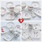618好康鉅惠 餐具碗碟套裝可愛韓式碗骨瓷米飯碗盤勺家用