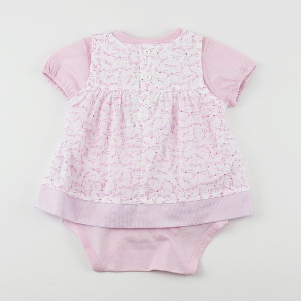 【愛的世界】純棉蜻蜓兩件式短袖包屁衣套裝/3個月~2歲-台灣製-  ---幼服推薦