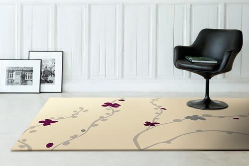 范登伯格 堤香 簡約時尚地毯-花語(米)-160x230cm