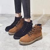 馬丁靴女英倫風新款秋款女靴子大尺碼加絨短靴 LF1640【雅居屋】