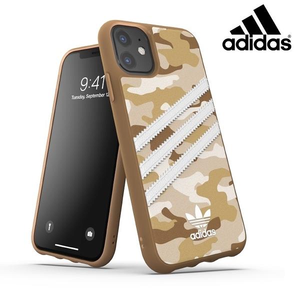 【adidas】Originals Samba 咖啡 沙漠迷彩手機殼iPhone 11 運動潮流時尚 帆布背板
