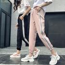 褲子新休閒原宿bf風運動褲女學生韓式潮蹦迪ins束腳褲