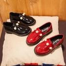 女童皮鞋新款春秋加絨韓版英倫風公主鞋兒童小皮鞋女童豆豆鞋Mandyc