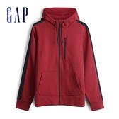 Gap 男裝 活力亮沙拉鍊連帽外套 528205-紅色