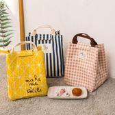 便當袋   手提包拎飯盒包袋保溫帆布便當包大號碼午餐盒包防水