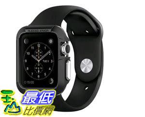[105美國直購] 蘋果錶殼 Apple Watch Case Spigen Rugged Armor Resilient Black Include 2 Screen Protectors SGP1..