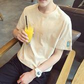 正韓短袖T恤 韓版學生上衣修身體恤青年打底衫【快速出貨八折下殺】