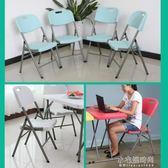 折疊椅家用餐椅休閒椅便攜塑料椅會議培訓辦公電腦椅凳子靠背椅子 YXS『小宅妮時尚』
