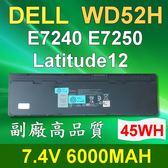 DELL 4芯 WD52H 日系電芯 電池 Latitude 12 E7240 E7250 WD52H GVD76 HJ8KP