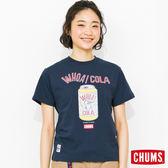 CHUMS 日本 女 可樂 Cola 純棉短袖T恤 深藍 CH111121N001