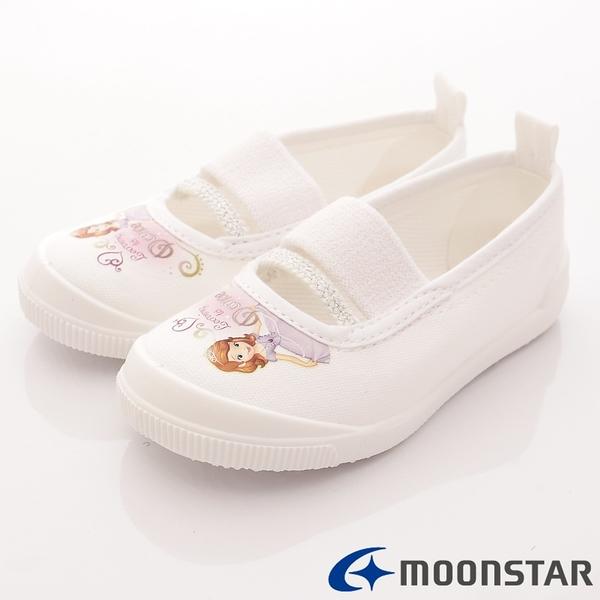 日本Moonstar機能童鞋 日本製蘇菲亞室內鞋 S011白(中小童段)